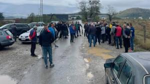 Sa današnjeg protestnog okupljanja Botunjana, FOTO: Portal RTCG